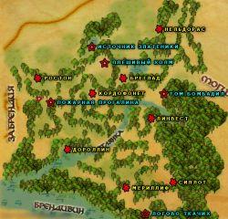 Карта цветов Вековечного Леса